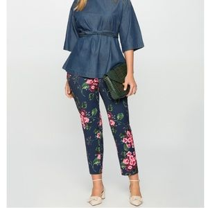 NWOT Eloquii Kady Fitted Crepe Pant